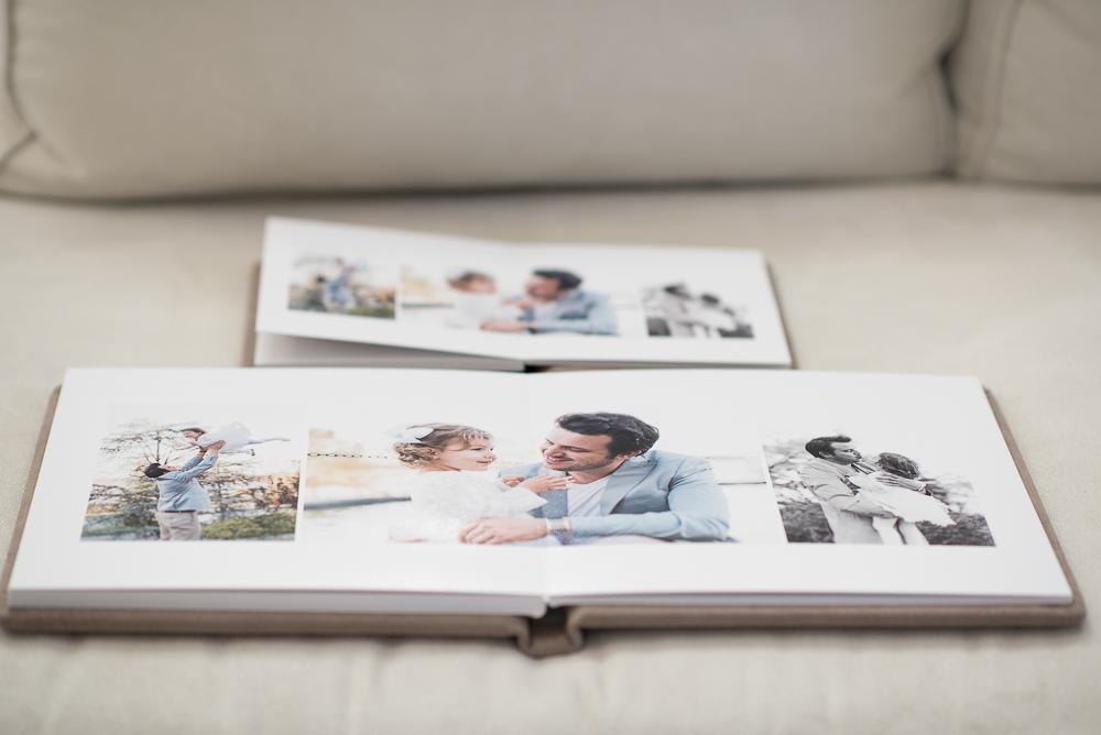 Photo album with pairing mini album by Keli Melo photographer in Plano